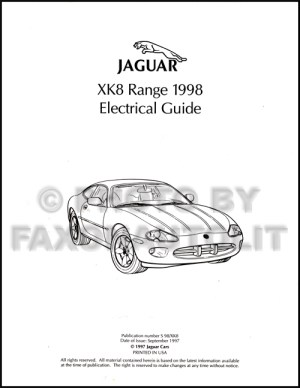 1998 Jaguar XK8 Electrical Guide Wiring Diagram Original