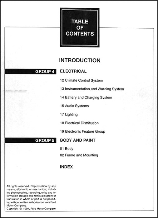1998 Ford Ranger Repair Shop Manual Original 2 Volume Set