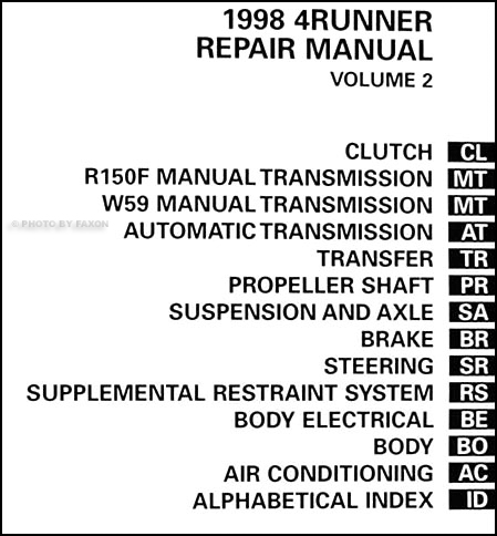 Service manual [Auto Repair Manual Online 1998 Toyota