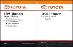 1998 Toyota Air Conditioner Installation Manual Original