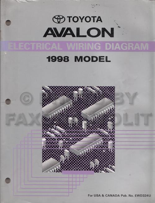 1996 Toyota Avalon Wiring Diagram Manual Original Toyota Books