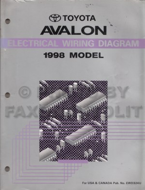 1998 Toyota Avalon Wiring Diagram Manual Original