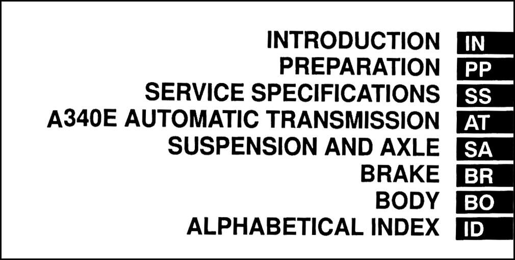1998 Toyota Tacoma Pre Runner Repair Shop Manual Original