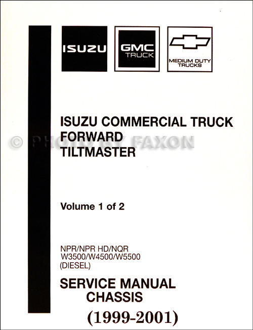 1999-2001 Diesel Chassis Repair Shop Manual Orig. NPR NQR