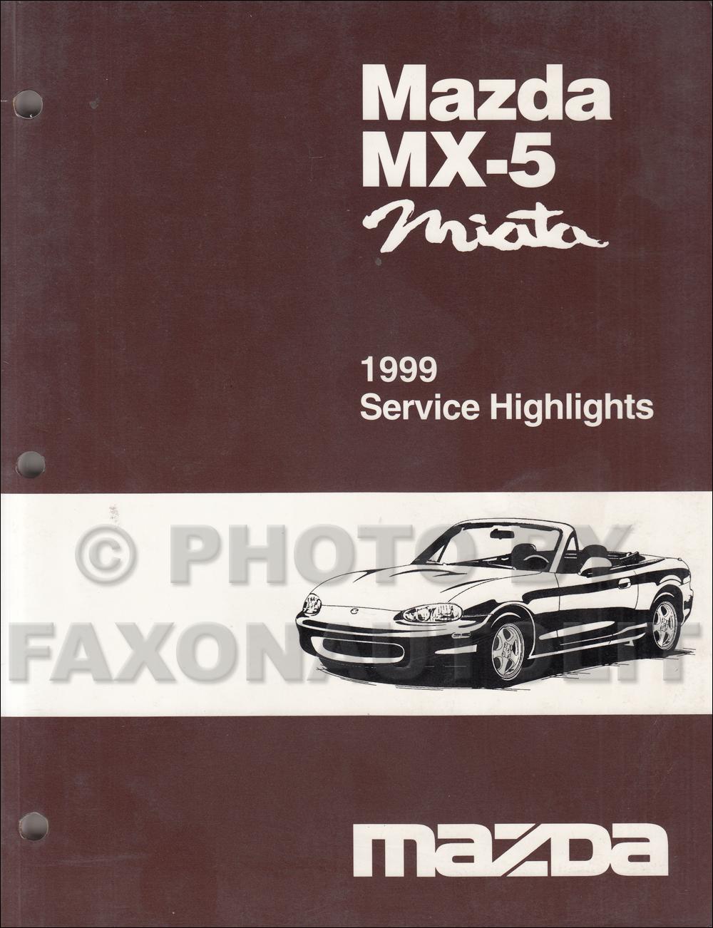 hight resolution of 1999 mazda mx 5 miata service highlights original service training manual mx5