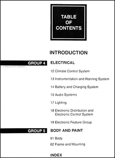 1999 Mercury Cougar Repair Shop Manual Set Original