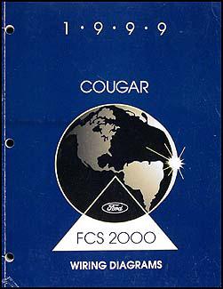 1999 Mercury Cougar Wiring Diagram Manual Original
