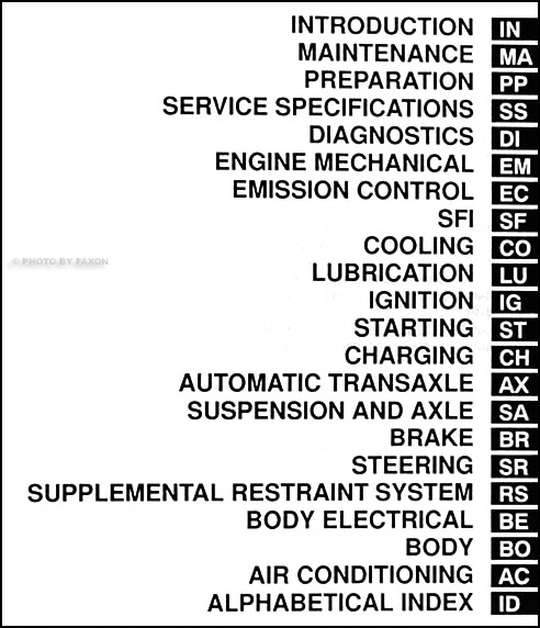 1999 Toyota Sienna Repair Shop Manual Original