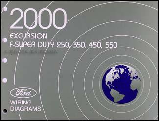 2000 Ford Excursion F Super Duty 250 350 450 550 Wiring Diagram Manual