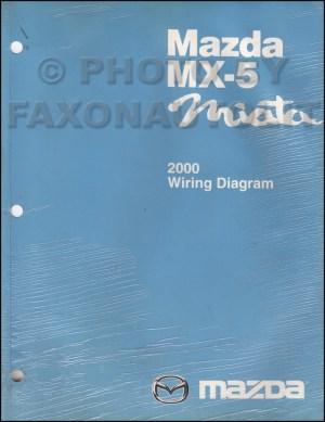 2000 Mazda MX5 Miata Wiring Diagram Manual Original