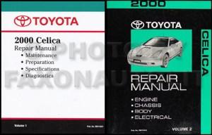 2000 Toyota Celica Repair Shop Manual Original 2 Volume Set