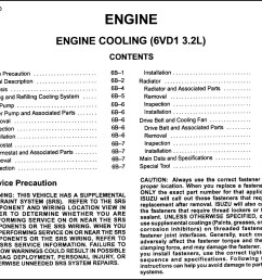 2000 isuzu rodeo cooling system diagram wiring schematic search 1994 isuzu rodeo 3 2 engine diagram [ 1042 x 948 Pixel ]