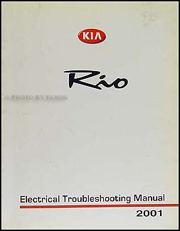 2001 Kia Rio Electrical Troubleshooting Manual Wiring