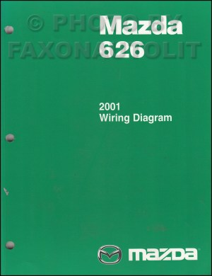 2001 Mazda 626 Wiring Diagram Manual Original