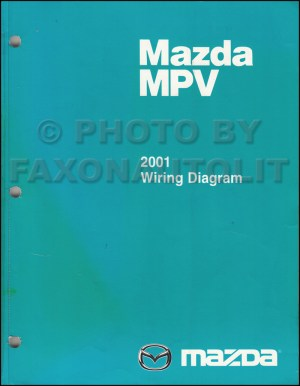 2001 Mazda MPV Wiring Diagram Manual Original