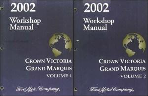 2002 Crown Victoria Grand Marquis Shop Manual Ford Mercury