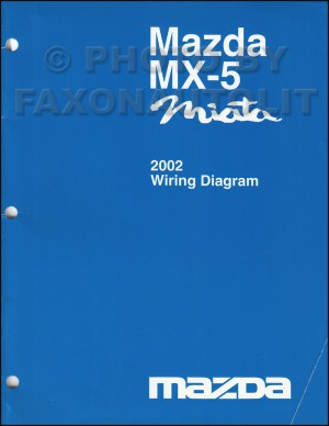 2002 Mazda MX5 Miata Wiring Diagram Manual Original