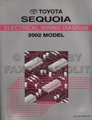 2002 Toyota Sequoia Wiring Diagram Manual Original