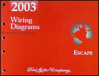 2003 Ford Escape Wiring Diagram Manual Original