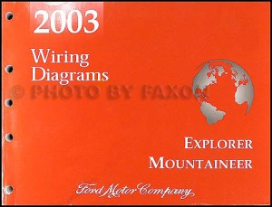 2003 Mountaineer and Explorer 4 Door Wiring Diagram Manual
