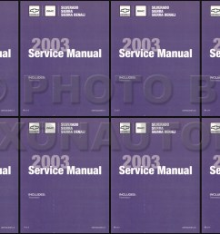 2003 silverado amp sierra repair manual original 5 volume set [ 1236 x 800 Pixel ]