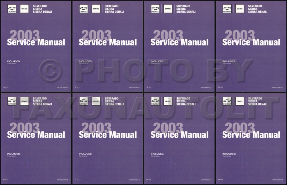 medium resolution of 2003 silverado amp sierra repair manual original 5 volume set