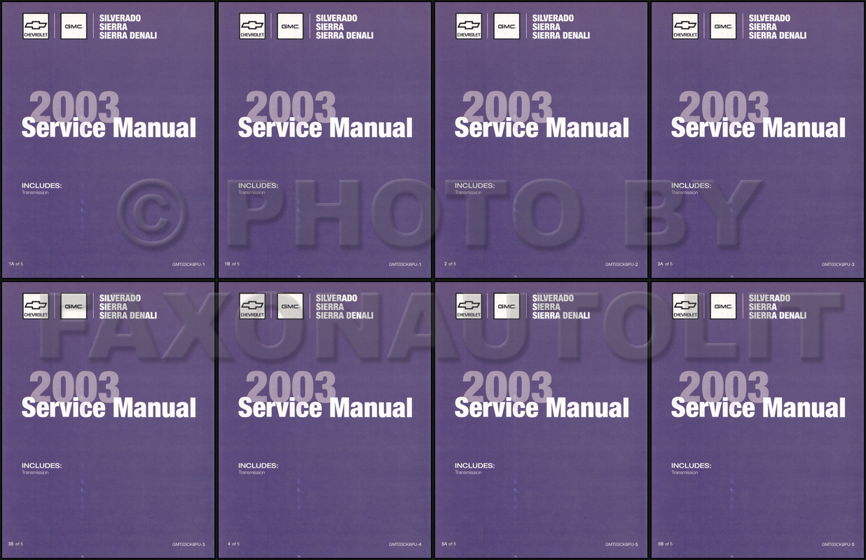 hight resolution of 2003 silverado amp sierra repair manual original 5 volume set