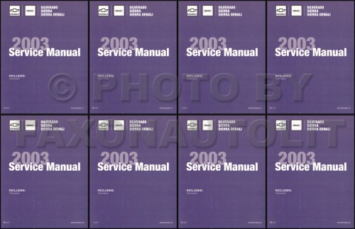 small resolution of 2003 silverado amp sierra repair manual original 5 volume set