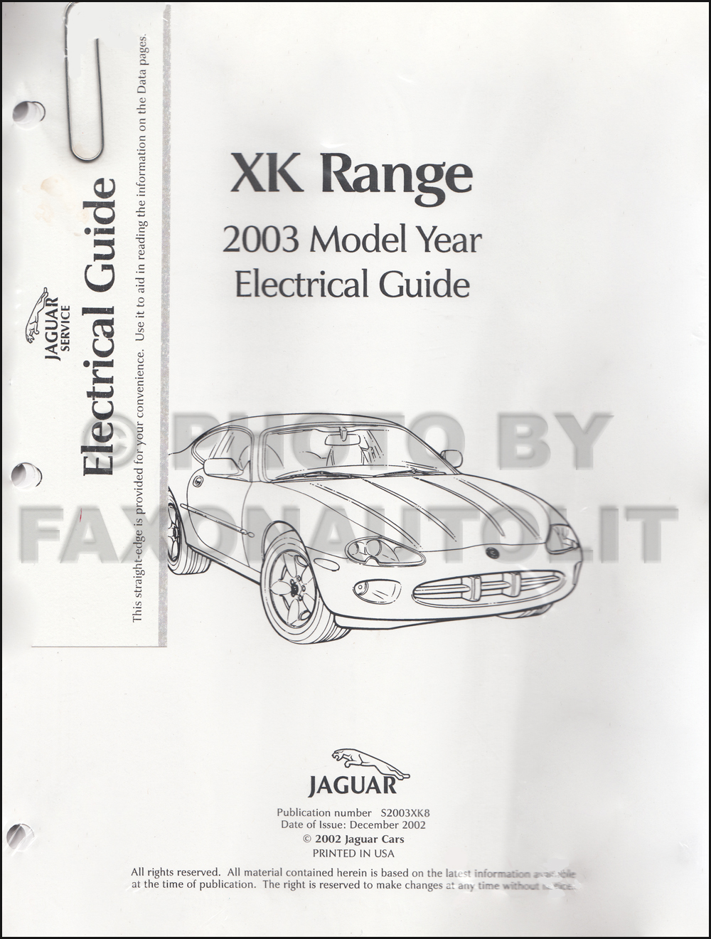 medium resolution of 2003 jaguar xk8 and xkr electrical guide wiring diagram