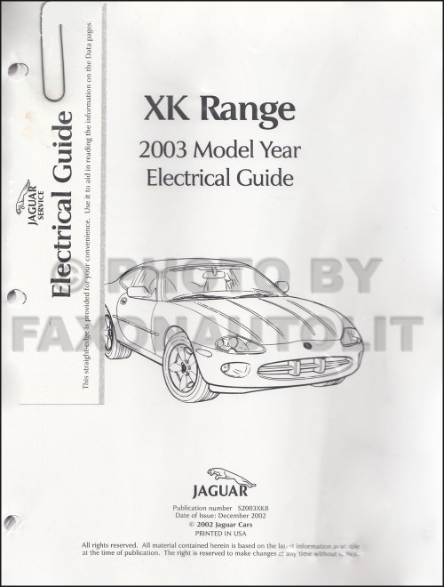 small resolution of 2003 jaguar xk8 and xkr electrical guide wiring diagram