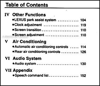 2003 Lexus LS 430 Navigation System Owners Manual Original
