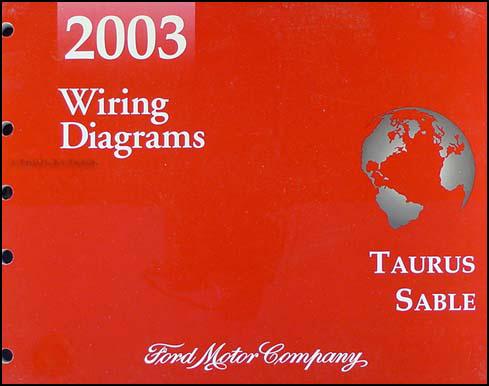 2003 Ford Taurus & Mercury Sable Wiring Diagrams Manual Original