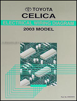 2003 Toyota Celica Wiring Diagram Manual Original