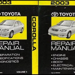 2003 Toyota Corolla Engine Diagram Sharepoint 2010 Farm Architecture Door Great Installation Of Wiring Repair Shop Manual 2 Volume Set Rh Faxonautoliterature Com 1998 Parts Under Cabin