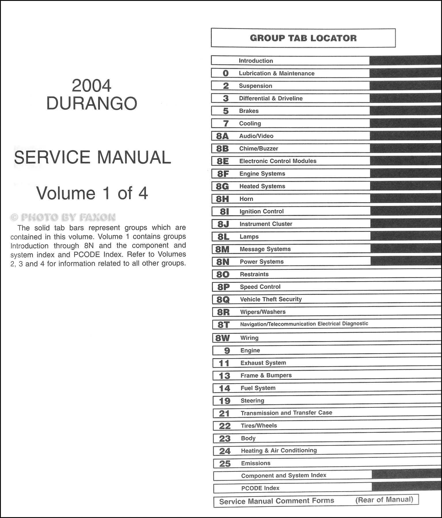 Service manual [2011 Dodge Durango Service Manual Free