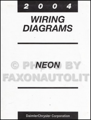 2004 Dodge Neon Wiring Diagram Manual Original