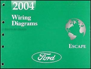 2004 Ford Escape Repair Shop Manual Original