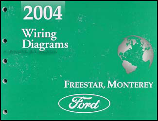 2004 Ford Freestar & Mercury Monterey Wiring Diagram Manual Original