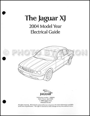 2004 Jaguar XJ8 and XJR Electrical Guide Wiring Diagram