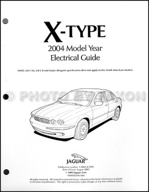 2004 Jaguar XType Electrical Guide Wiring Diagram