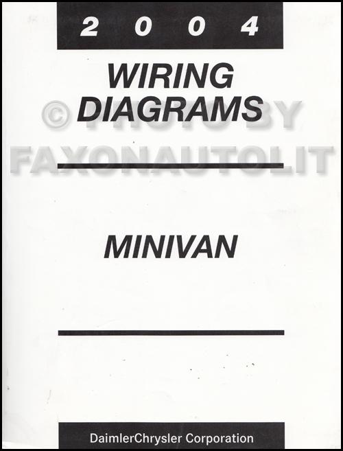 2004 Chrysler Dodge Minivan Wiring Diagram Manual Original Caravan