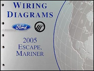 2005 Ford Escape & Mercury Mariner Wiring Diagram Manual Original