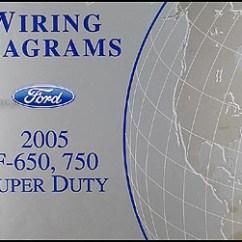 Electrical Wiring Diagram Ford F650 Trailer 4 Way 2005 F750 Medium Truck Manual Original