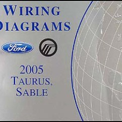 2001 Ford Taurus Stereo Wiring Diagram Goldwing 1500 Trailer 2005 Mercury Sable Diagrams Manual Original