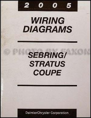 2005 Chrysler Sebring Dodge Stratus Coupe Wiring Diagram Manual Original