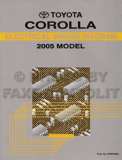 2005 Toyota Corolla Wiring Diagram Toyota Corolla Wiring Diagram 1999