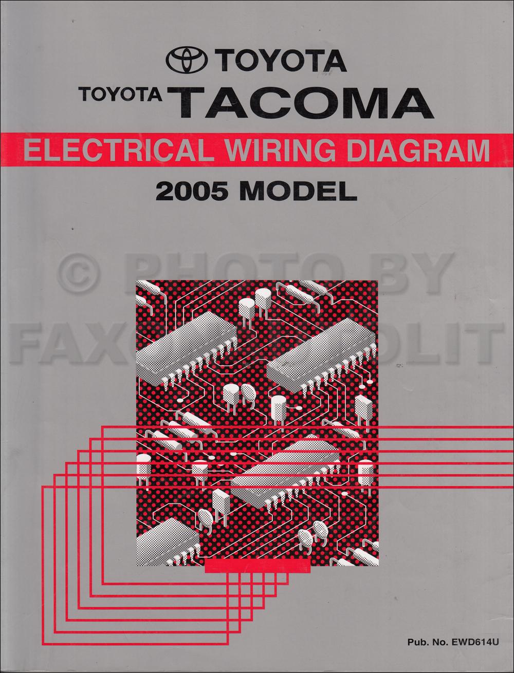 2005 Toyota Tacoma Pickup Wiring Diagram Manual Original