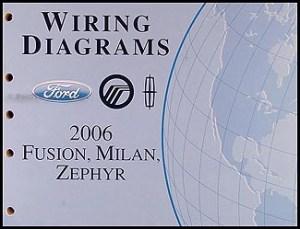 2006 Ford Fusion Mercury Milan Lincoln Zephyr Wiring
