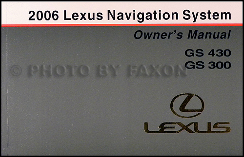 2006 Lexus Gs 300 430 Wiring Diagram Manual Original