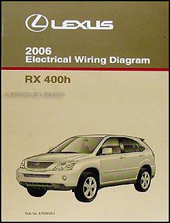 2006 Lexus RX 400h Repair Shop Manual 4 Volume Set